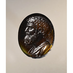 Cameo portrait of Archimedes