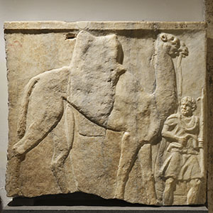 Relief with a dromedary