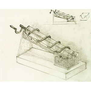 Archimedes' screw or hydraulic screw