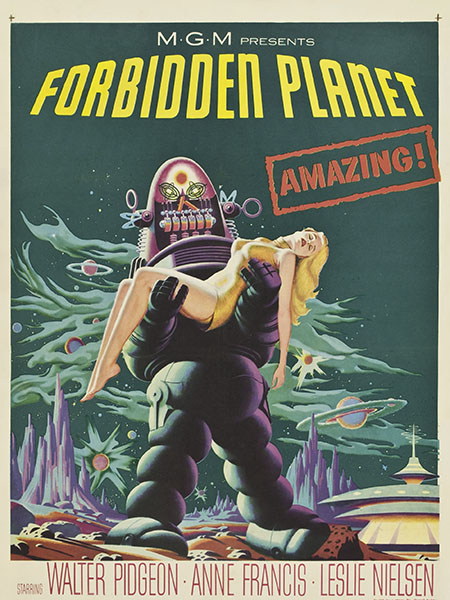 Movie poster of Forbidden Planet.