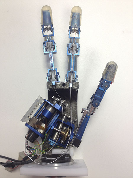 Three-fingers robotic hand.