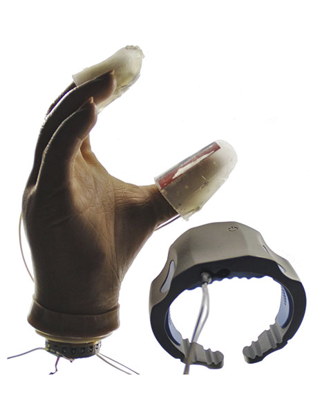 Device for sensory feedback for amputees.