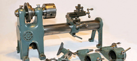 Small lathe with accessories