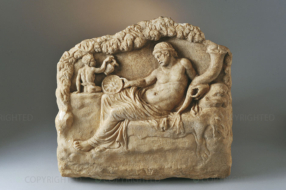 Relief carving of Dionysus
