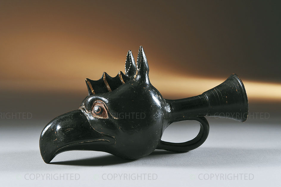 Rhyton with red-figure griffin protome