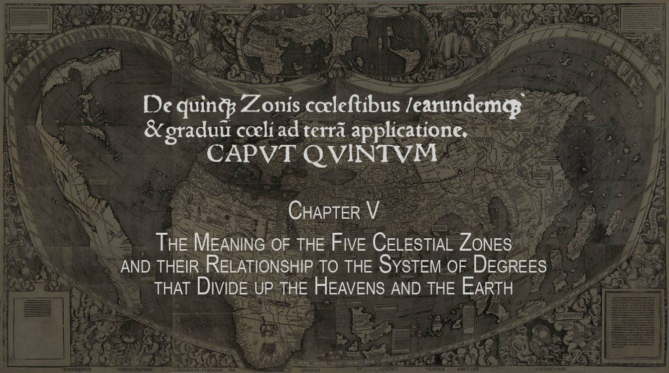 Celestial zones and regions of the Earth