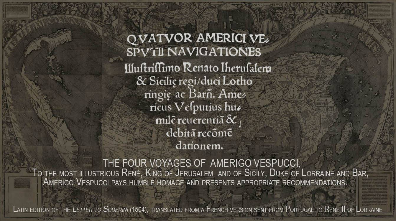 The four ocean voyages of Amerigo Vespucci